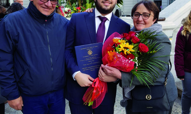 Auguri a Salvatore Cangiano per la brillante laurea